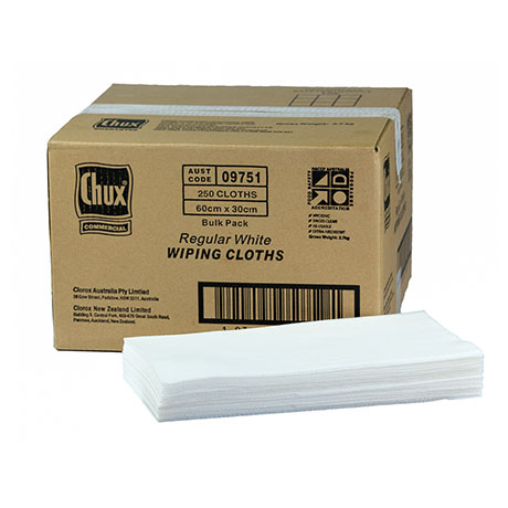 Chux® Wiping Cloths White 60x30cm Box250