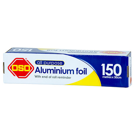 Oso® All Purpose Aluminium Foil 150m x 30cm
