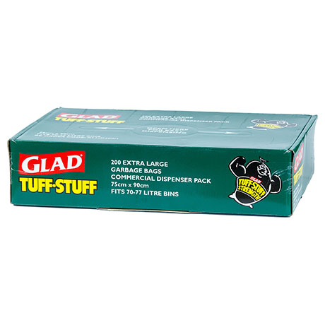 Glad® Tuff Stuff® Garbage Bag Dispenser XLarge 70-77L Box200