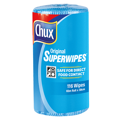 Chux® Superwipes® Blue Perforated Roll 65m
