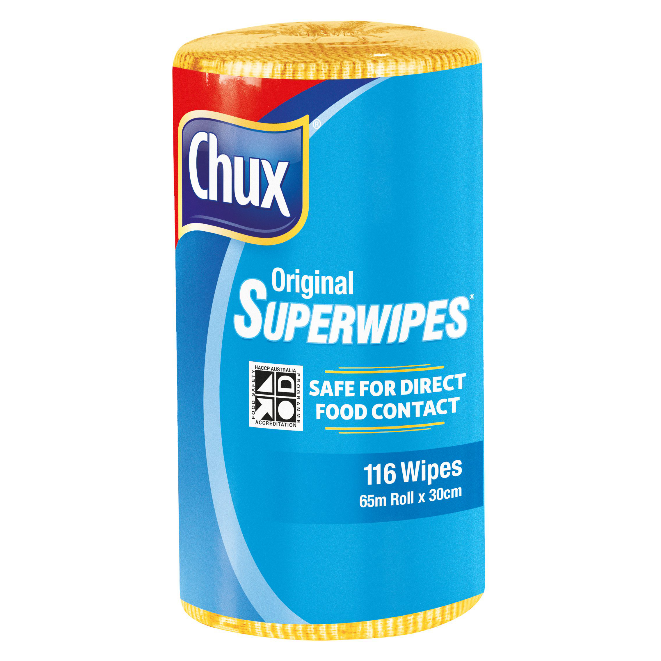 Chux® Superwipes® Yellow Perforated Roll 65m