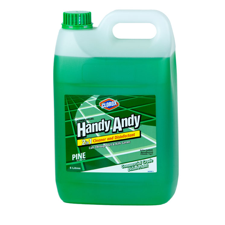 Handy Andy® Cleaner And Disinfectant Green 5L