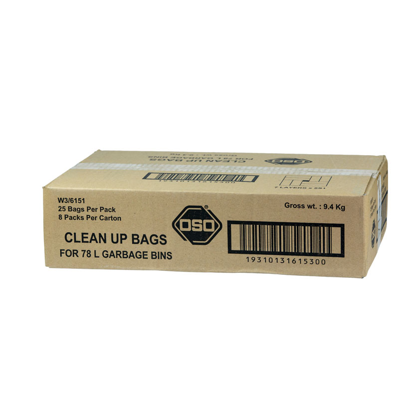 Oso® Clean Up Bags 78L Pk25